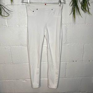 Spanx Jean-ish Ankle Leggings in White Size Medium